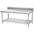 BN-W09 Industrial commercial work bench with backsplash