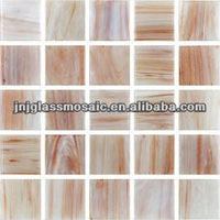 gold red wall mosaic glass tile for decoration
