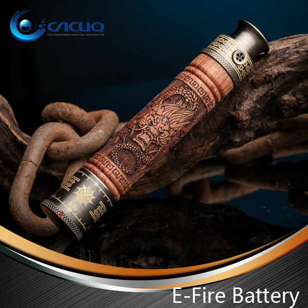 2013 Hot selling Ecig New 1100mah wooden EFire battery e-cig vv vamo mod