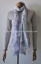 Hot sell ladies 100% cashmere scarf with fashion printing