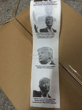Custom Donald Trump novelty printed toilet paper