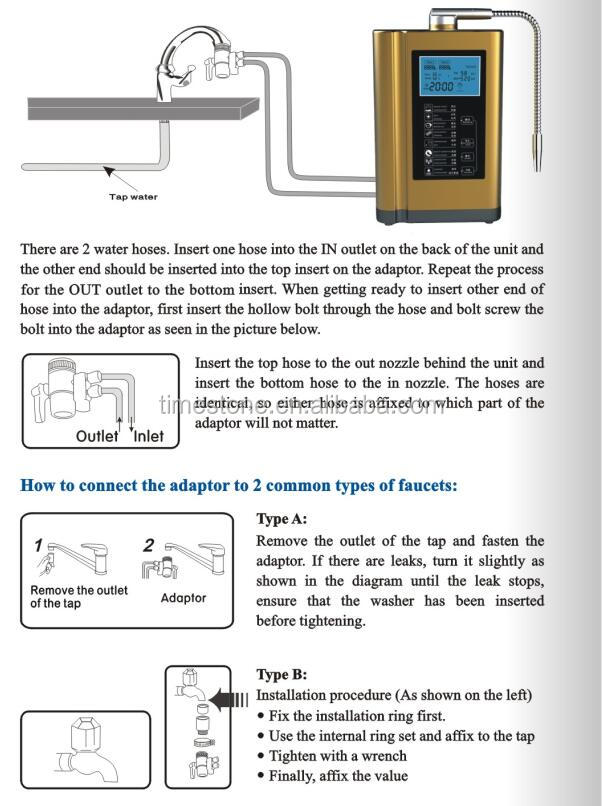 Hot Sale  Alkaline Water Ionizer Filter Machine Alkaline Water Generator Home Water Filtration System