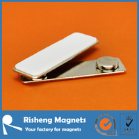 Magnetic name badges with two strong neodymium ring magnets badge magnet plastic