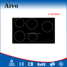 utility touch control induction 5 hob/ dual ring ceramic plate for kitchen appliance