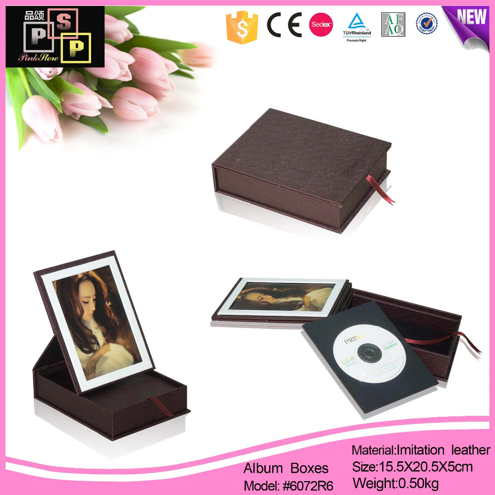 Luxury handmade custom leather photo album box
