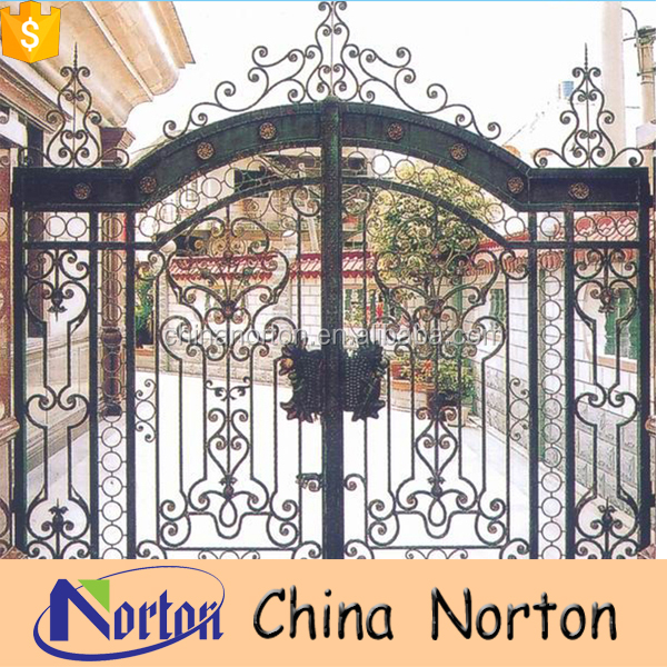beautiful modern outdoor decoration custom wrought iron gates NT-WIY018