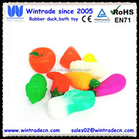 3d lifelike vinyl fruits, make lifelike vinyl vegetable toy, inflatable plastic fruits toys