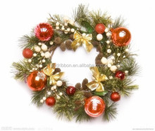 ShenZhen China Professional Manufacturer Custom Made Decorative 35cm plastic christmas ball wreaths cheap wholesale