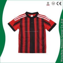 100% polyester soccer jersey, AC Milian