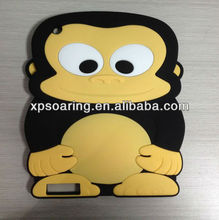 smart animal silicone case for ipad 2 ipad 3, monkey cover for ipad 4