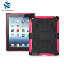 2 in 1 style hard protective bracket stand tablet case for iPad 2 3 4