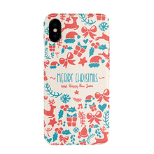Christmas Hot Sale Customized Phone Cover Water Transfer Printing PC Cases for iPhone 7 8 10 X case
