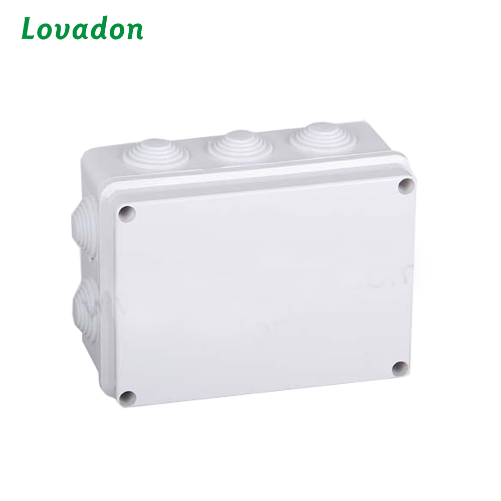 ABS polycarbonate plastic newest electrical enclosure junction box plastic switch box with Knock out and Rubber