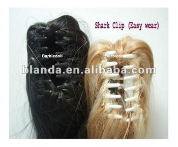Shark Clip On Synthetic Ponytail Extension