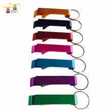 promotional customized plating blank metal bottle opener keychain ring can opener stainless steel beer opener