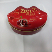 unique irregular tin box like lip for chocolate packing