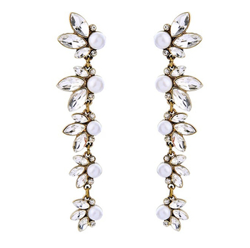 fashion pearl earrings buy per unit, wholesale crystal pearl earrings, vintage long pearl earrings