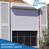 Manual Operate Exterior Installation Aluminum Rolling Shutter Window