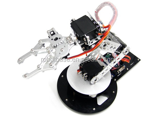 AS-6 DOF aluminium educational robotic arm without electronic control