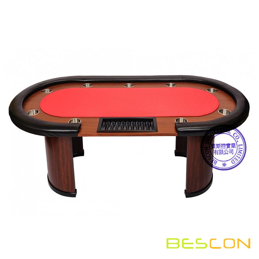 9 personne casino poker table avec distributeur de for Poker table 6 ou 9