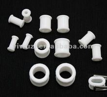 china saddle double flare silicone flexible ear plugs flesh tunnel body piercing jewelry, ear gauges, ear expander