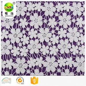 100 percent swiss cotton voile chemical embroidery lace fabric