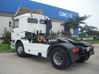 tractor truck 4*2 320hp with double axle truck