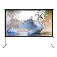 16:9 aluminum case foldable fast fold projection screen