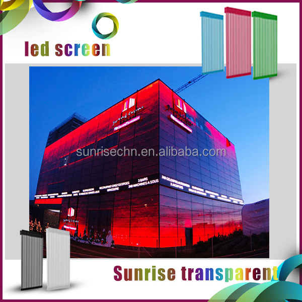 2016 building media decoration p31.25 outdoor transparent led display