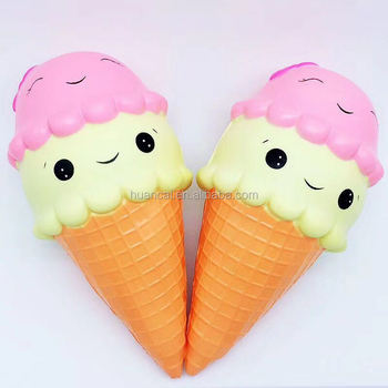 Wholesale Factory soft squishy slow rising ice cream models PU foam squishy toys
