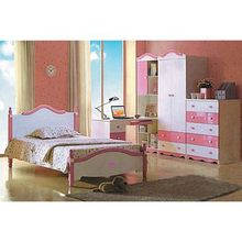Children's Bed Room, Composed of Nightstand, Computer Desk and Wardrobe