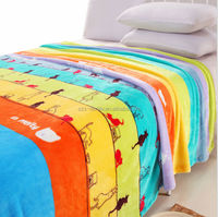 microfiber printed fleece ac blanket