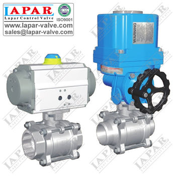 LPA15 Weld Ball Valve with Electric Actuator Motorized Ball Valve