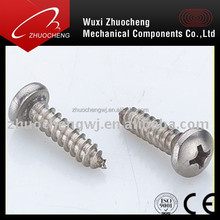 galvanized cross recessed pan head self tapping screw