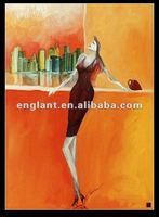modern style abstract woman painting for wall decoration