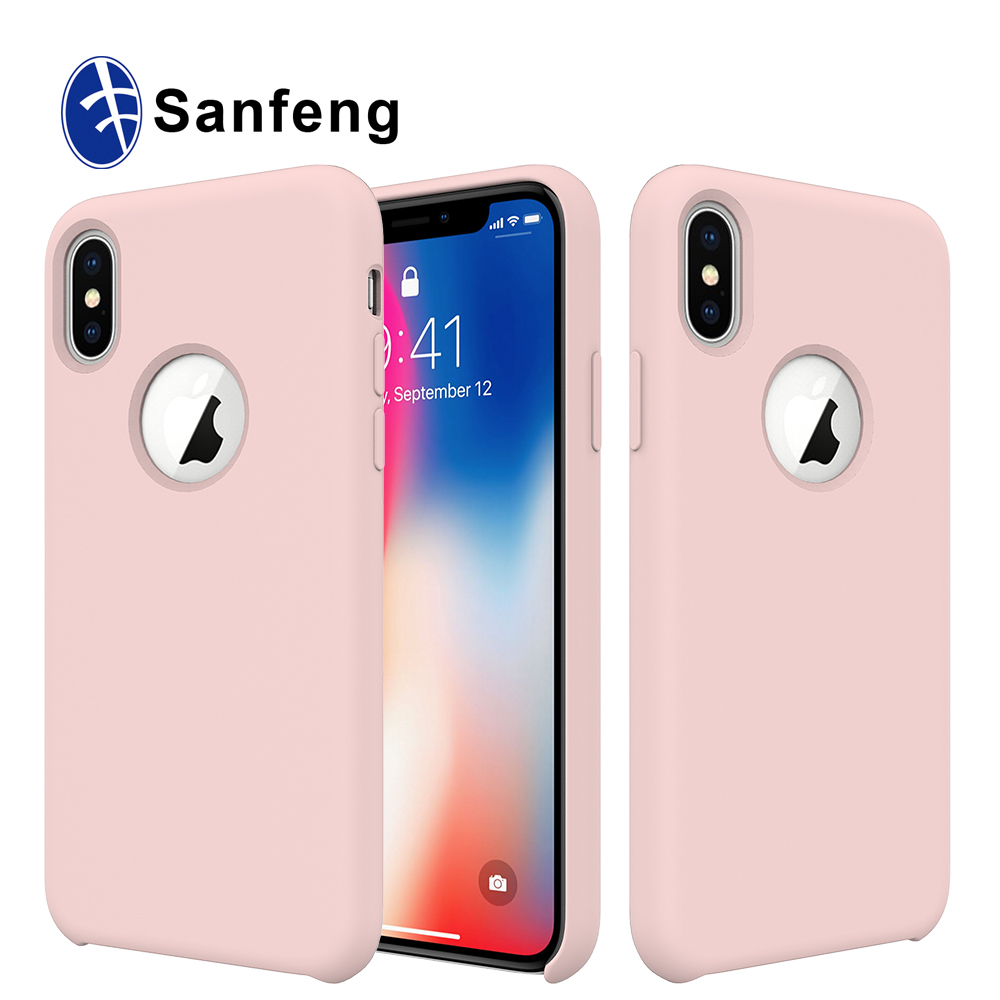 For Iphone X Liquid Silicone Gel Rubber Shockproof Phone Case for Wholesale