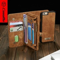 Luxury Magnetic Wallet Case For Apple iPhone 6 2 in 1 Leathe Case Cover For iPhone 6 Case Cover For iPhone 6 / 6 Plus