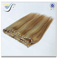 top quality hair colored brazilian hair weave micro thin weft hair extension