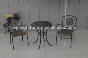 Wholsale rattan wiker table and chair