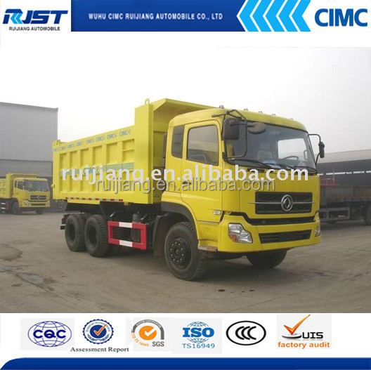 Dongfeng 6x4 dump truck 20 ton capacity auto tipper