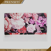 PRENSITI manufacturers produce funky korean mens long leather women fid blocking wallet leather