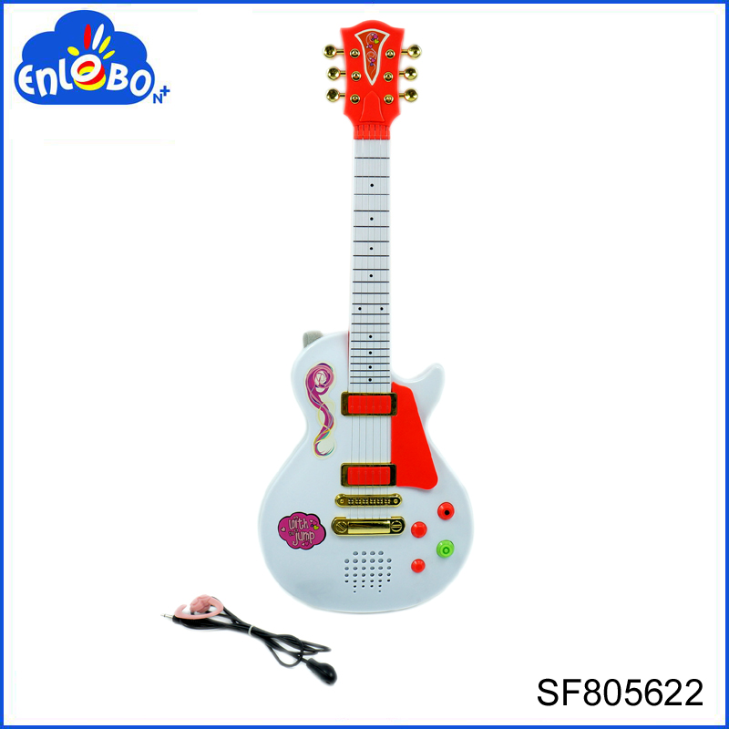 White electric toy plastic kids guitar musical instruments from China