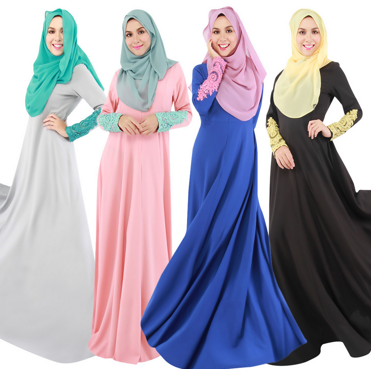 X80573A Arab wholesale ladies long sleeve muslim maxi clothing women formal long dress
