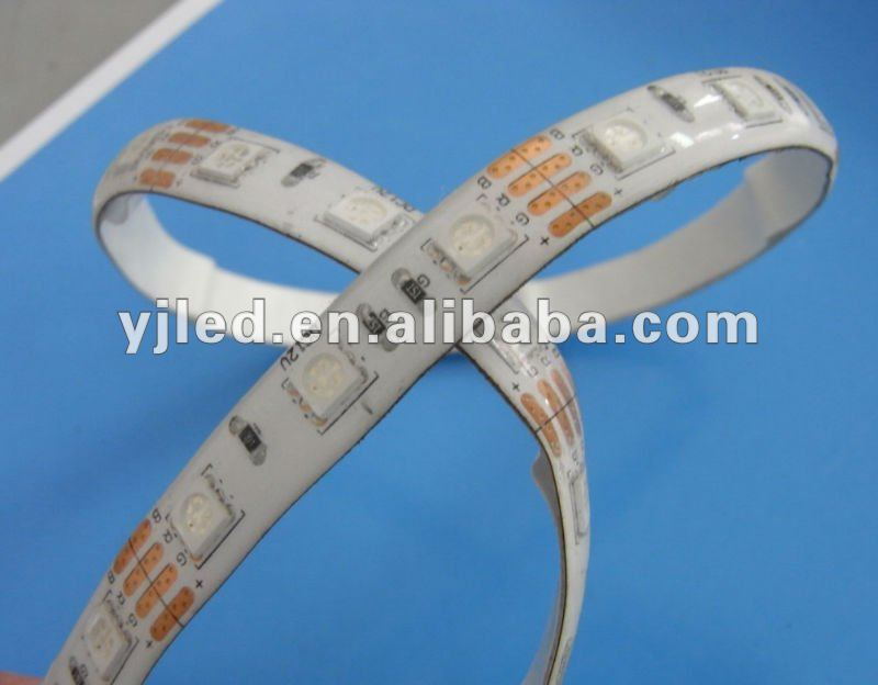 SMD5050 dream color waterproof led strip IP65 3M adhesive back stickers installation