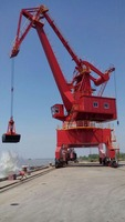 mobile harbor crane rail mounted portal supported crane