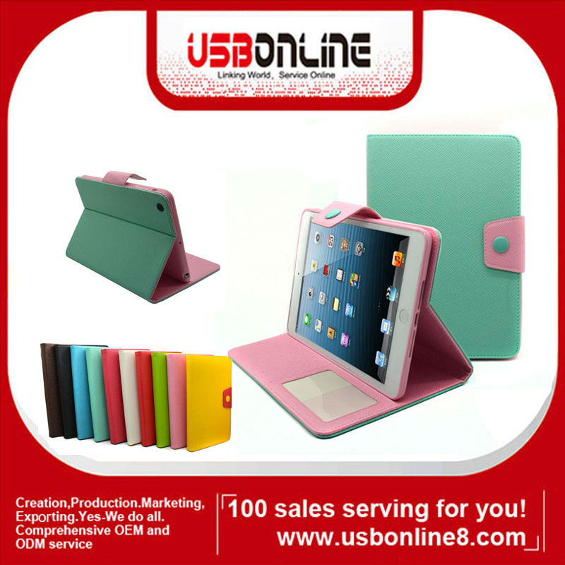 New stylish Magnetic PU Leather Folio Smart Case Cover for iPad Mini