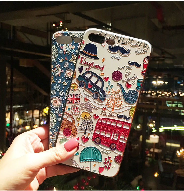 Soft tpu material handmade 3D printing mobile phone case for iphone 7