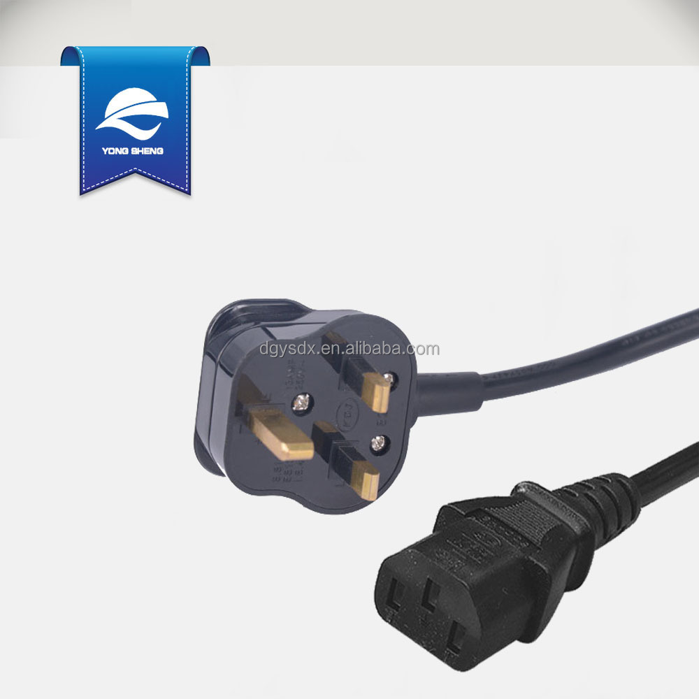 BS approved British power cord with uk 3 pins plug