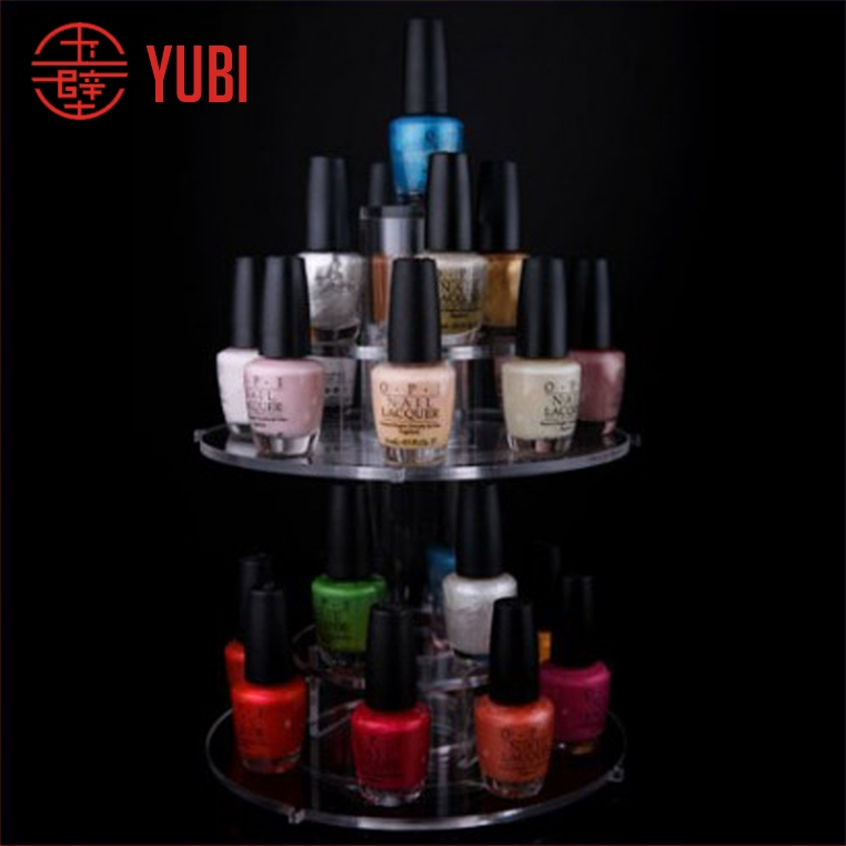 rotating acrylic nail polish essential oil holder rack display stand