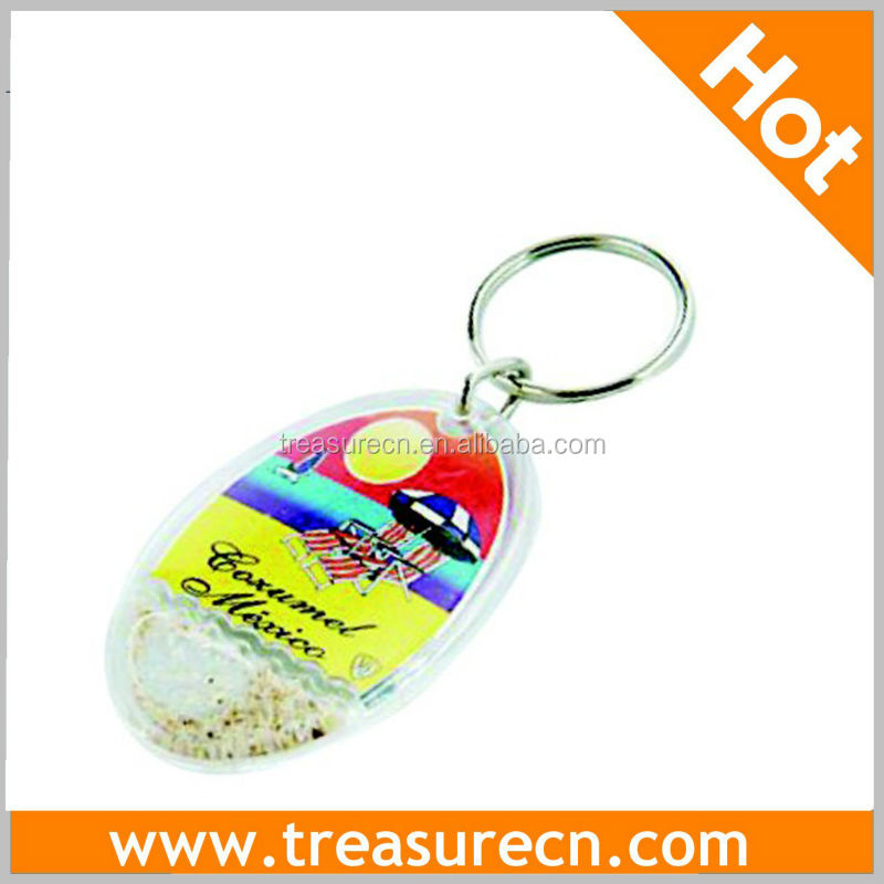 Cheaper Plastic/Acrylic Key Chain With Sand